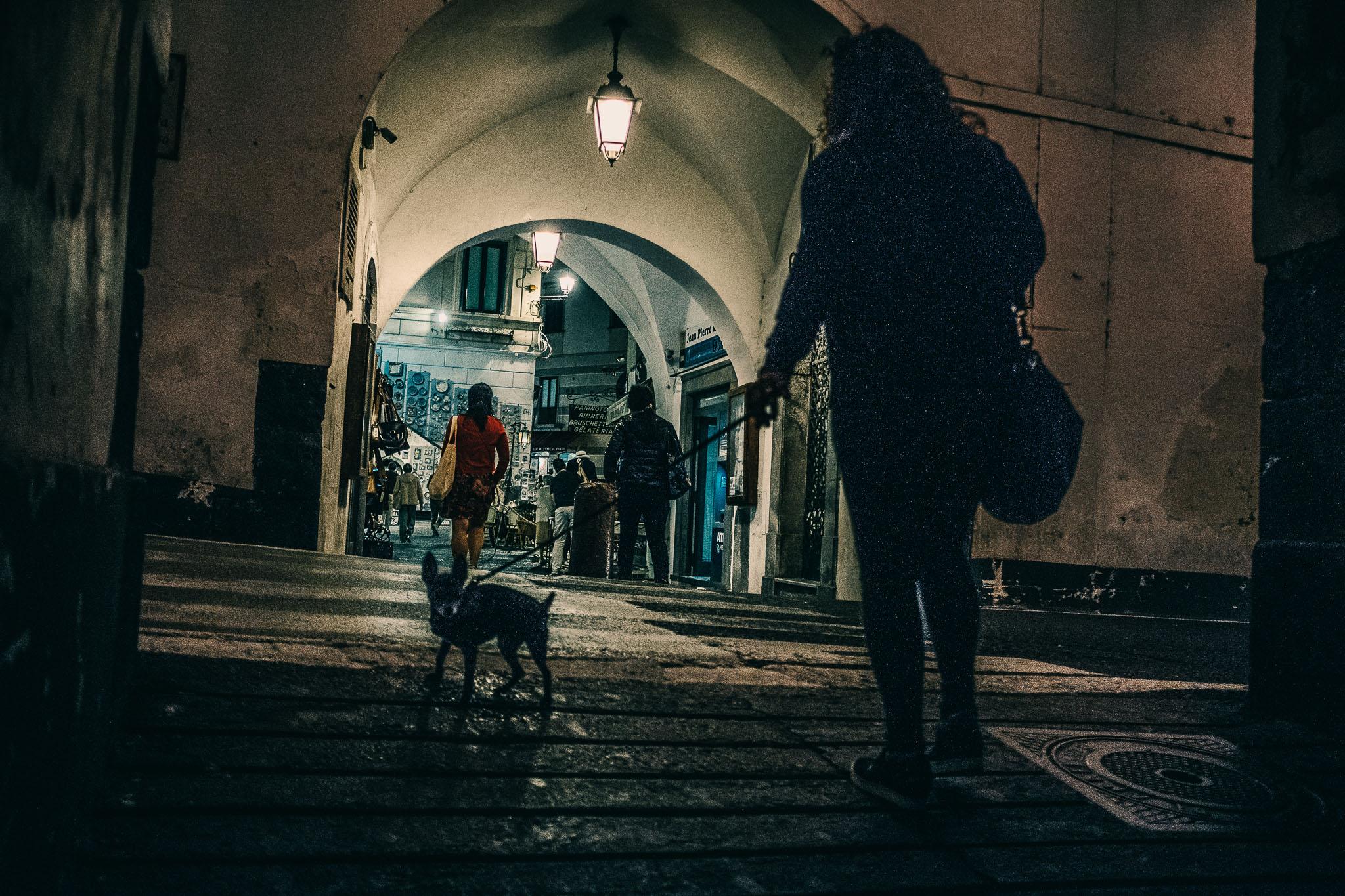 Amalfi ved nat